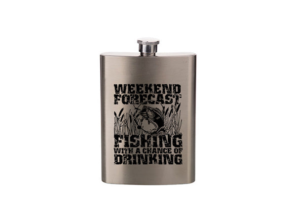 Weekend Forecast Fishing With A Chance Of Drinking - Flask