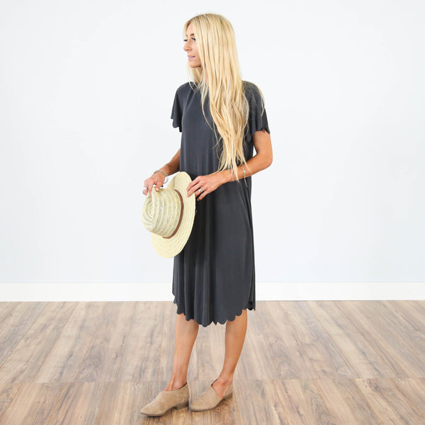 Desirae Scalloped Dress