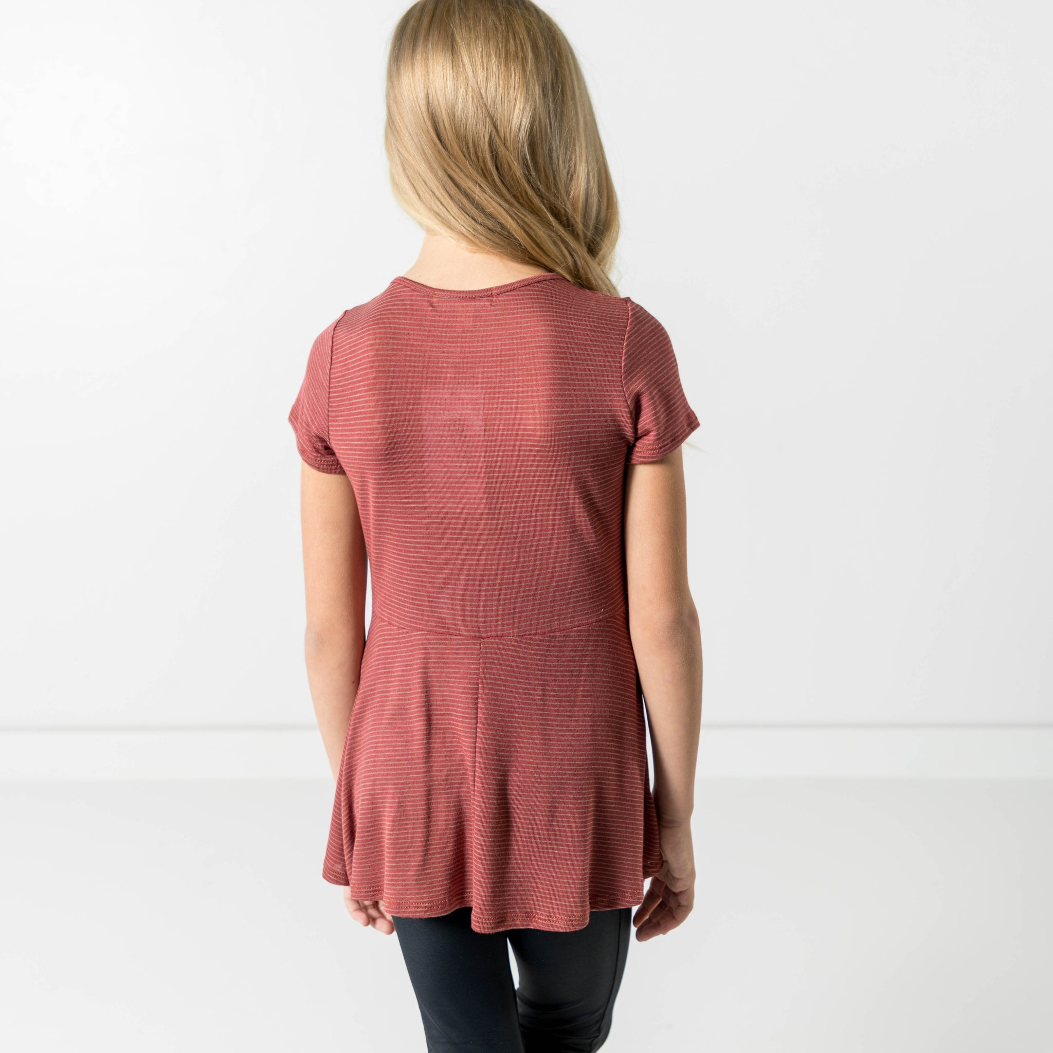 Eliana Baby Doll Top in Brick