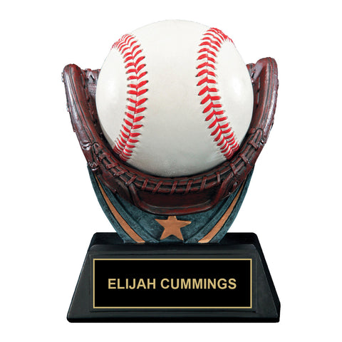 Winning Catch Baseball Trophy