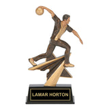 Bronze Action Bowling Trophy