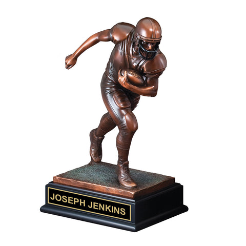 Bronze Action Football Trophy