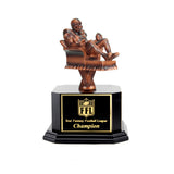 Copper Armchair Quarterback Fantasy Football Trophy