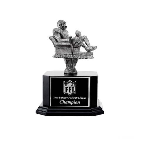 Sliver Armchair Quarterback Fantasy Football Trophy