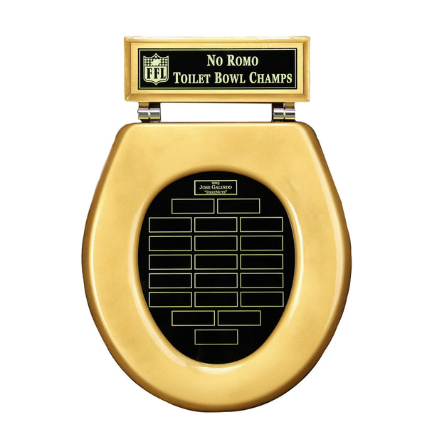 Toilet Bowl Champions Plaque Awesome Sports Awards
