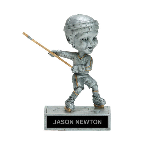 Shooting Bobble Head Hockey Trophy