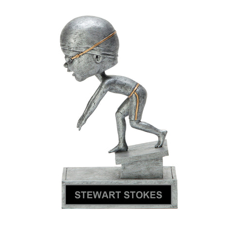 Racing Bobble Head Swim Trophy