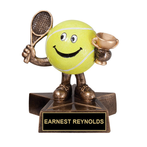 Cartoon Tennis Trophy