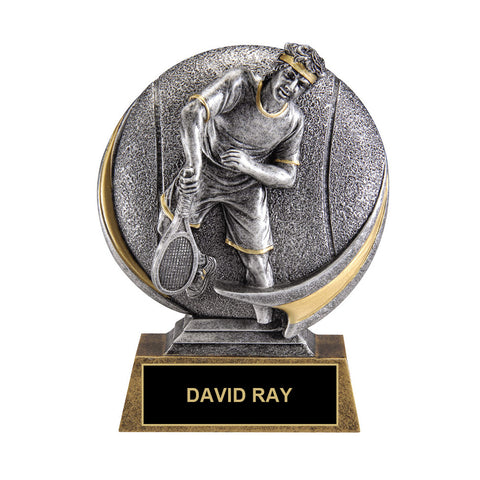 In-Action Tennis Trophy