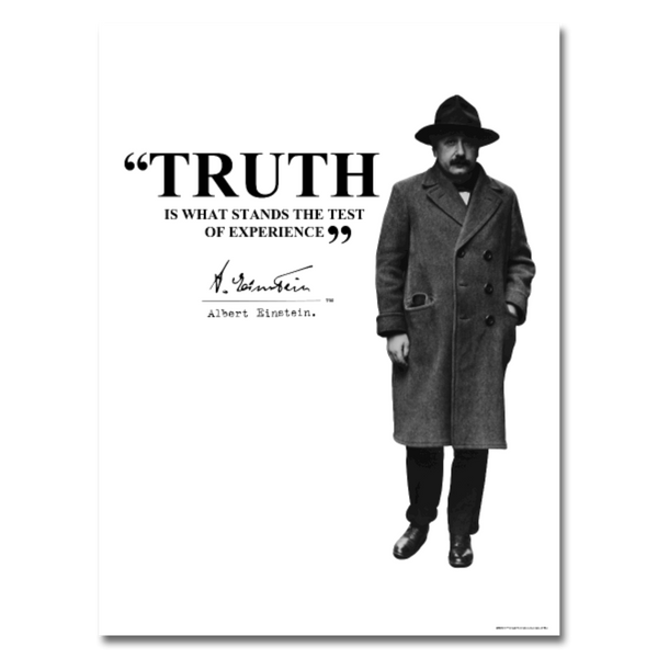 Albert Einstein Truth Quote Poster 18x24