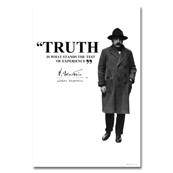 Albert Einstein Truth Quote Poster 24x36