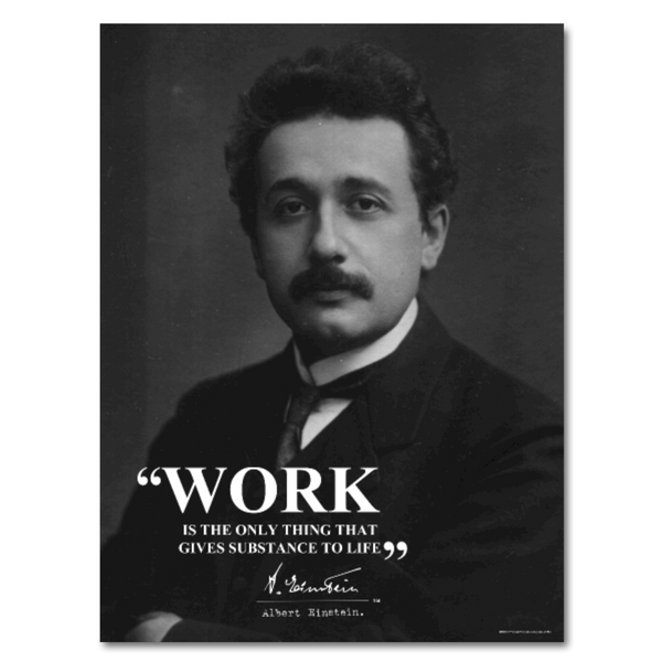 Albert Eisntein Work Quote Poster 18x24