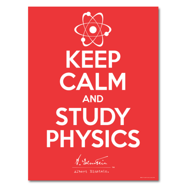 Albert Einstein Keep Calm Poster 18x24