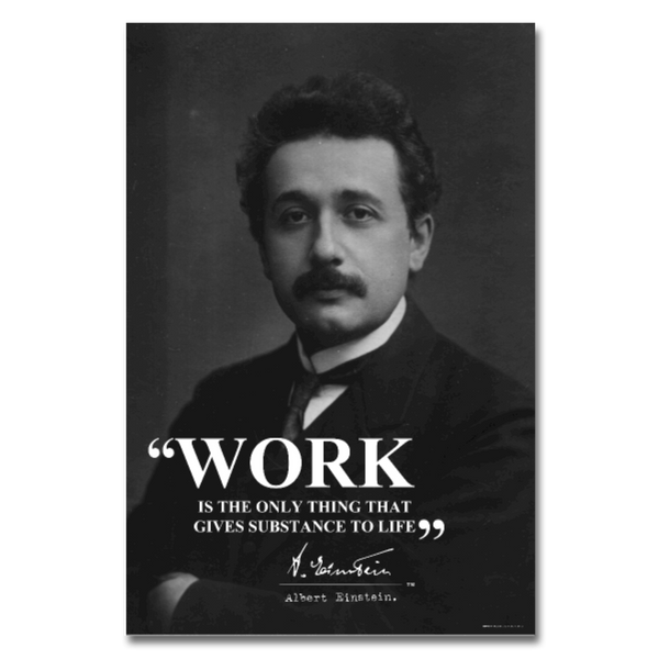 Albert Einstein Work Quote Poster 24x36