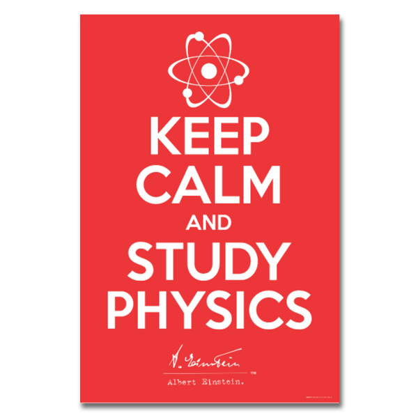 Albert Einstein Keep Calm Poster 24x36