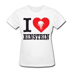 I Heart Einstein Womens Tee