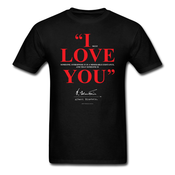 Albert Einstein I Love You Quote Tee