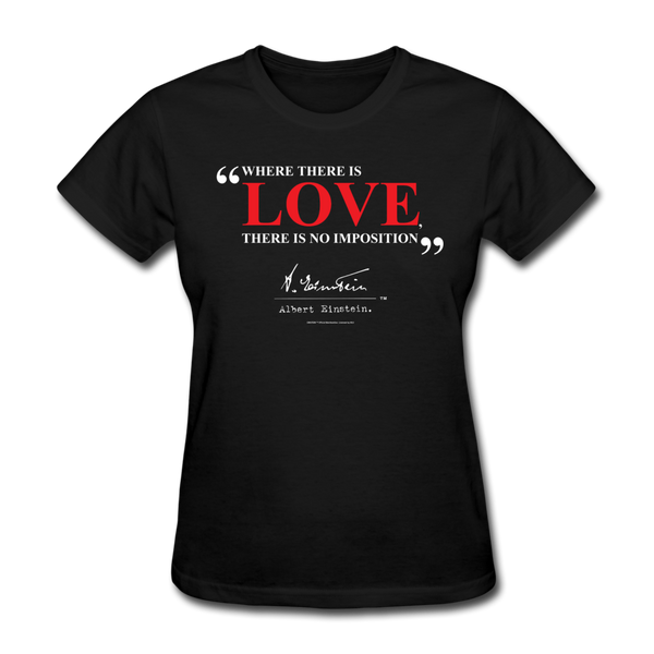 Albert Einstein Love Quote Womens Tee
