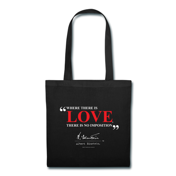 Albert Einstein Love Quote Tote