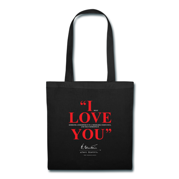 Albert Einstein I Love You Quote Tote