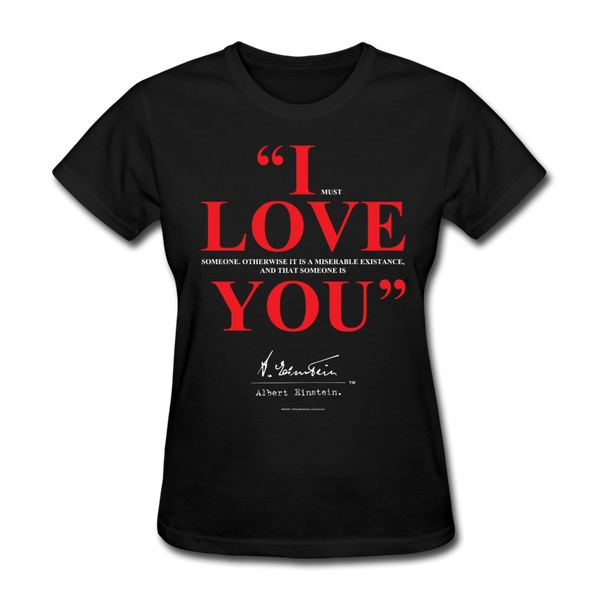 Albert Einstein I Love You Quote Womens Tee