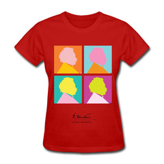 Albert Einstein Women's Pop Art T-Shirt