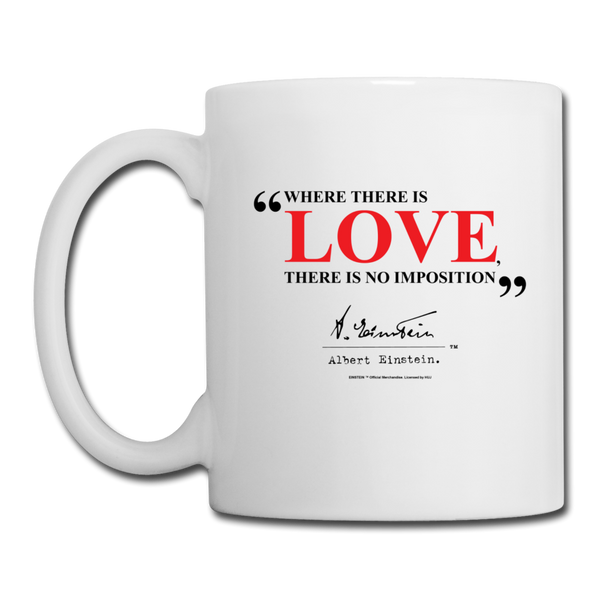 Albert Einstein Love Quote Mug