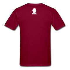 Einstein Portrait Tee - burgundy