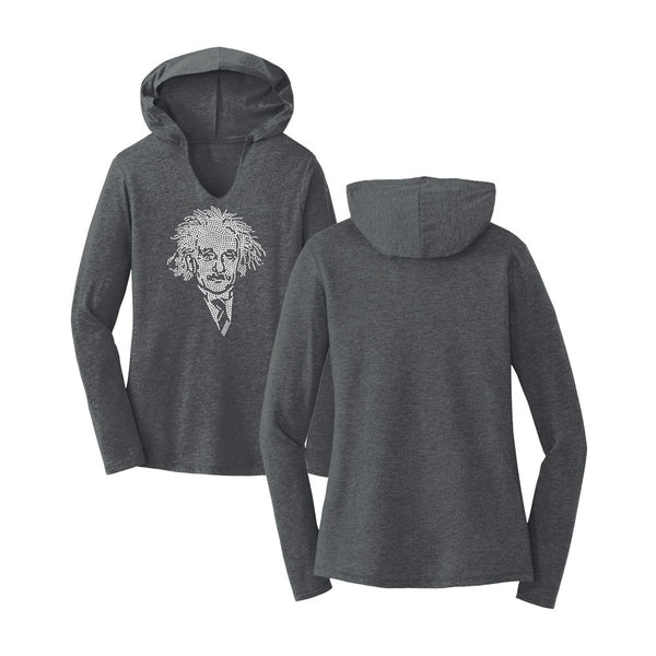 Einstein Crystal Portrait Tri-Blend Women's Hoodie
