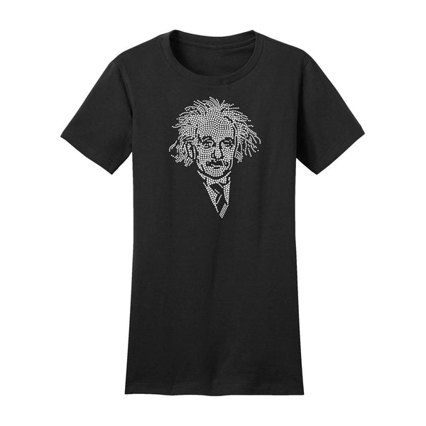 Einstein Crystal Portrait Juniors Tee