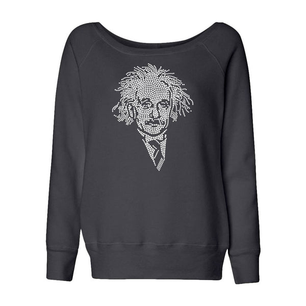 Einstein Crystal Portrait Juniors Slouchy Fleece