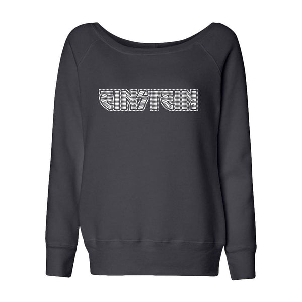 Einstein Rock N Roll Crystal Logo Juniors Slouchy Fleece