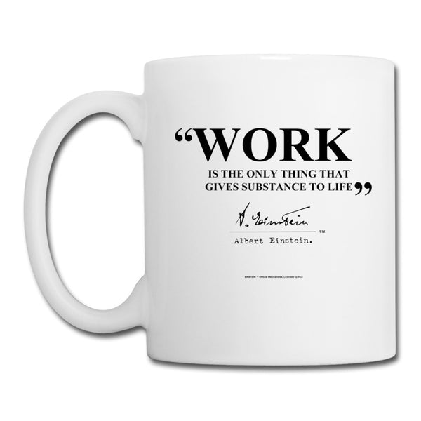 Einstein Work Quote Mug
