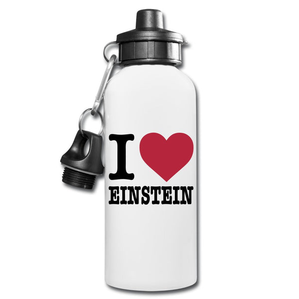 I (Heart) Einstein Water Bottle