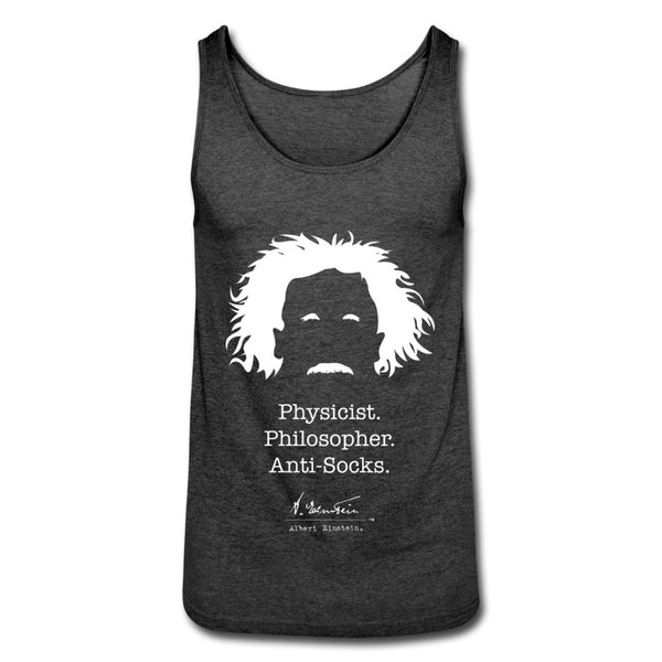 Albert Einstein Anti-Socks Unisex Tank Top