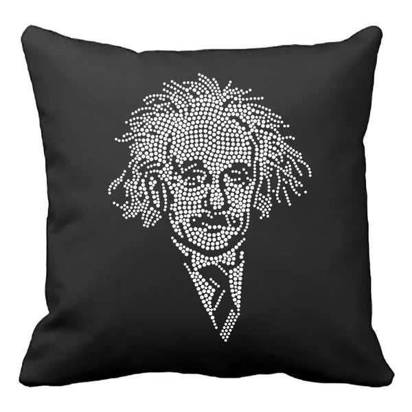 Einstein Crystal Portrait Pillow