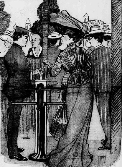 Introducing turnstiles 114 years ago