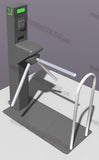 Catrax Turnstile with Platform Base with a Hand Rail and Wheel