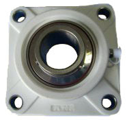 Flange bearing upper outside plastic
