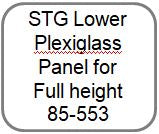 "CSTG Lower Plexiglass Panel for full height Turnstile 26""x21"" -85-553"