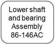 Lower shaft and bearing Assembly