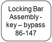 Locking Bar Assembly - key - bypass
