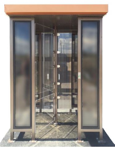 Bullet Proof Glass Turnstile