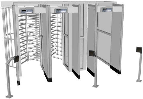 HS Single Turnstile - ADA Gate with Metal Detector