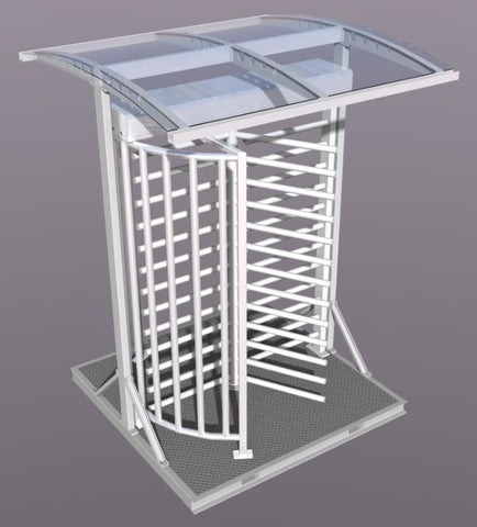 Outlaw Industries Portable Single Turnstile with Plexiglass Canopy