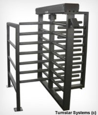 TITAN three quarter height, INDUSTRIAL turnstile - 4 or 3 Arms
