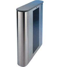 BE800-R: The Beacon™ Series - Stainless Cabinet & Solid Surface Round Top