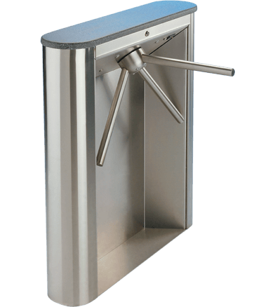Controlled Access Waist High Turnstiles Executive Series EX100-R Tripod EX100-R-ADA Swing Gate