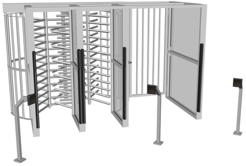 HS Single Turnstile - ADA Gate with Anti Tailgate