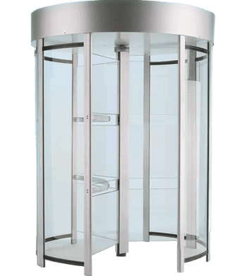 Tiffany P60 Series: Full Height Turnstiles in Aluminum with Lexan